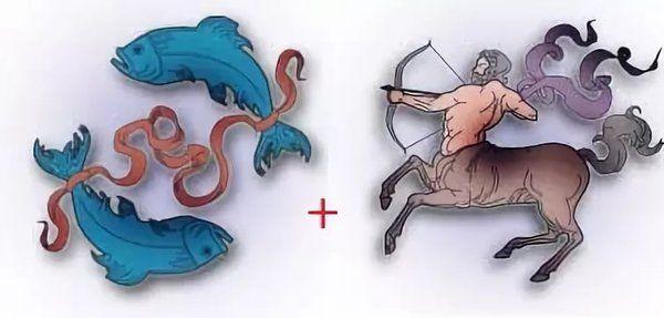 Мужчина Рыбы и женщина Стрелец (совместимость)